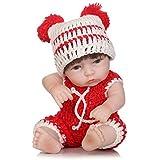 """Minidiva Reborn Baby Doll RB077, 100% Alive Handmade Full Soft Silicone 11"""" /27cm Lifelike Newborn Doll Girl for Children"""