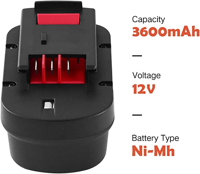 Amazon Com Hpb12 12 V 3 6ah Ni Mh Reemplazo Para Black And Decker 12v Batería A1712 Fsb12 A12 A12 Xj A12ex Firestorm Fs120b Fs120bx Electronics