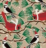 Snowbirds Kraft Gift Wrap Roll 24'' X 15'
