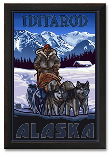 Northwest Art Mall Iditarod Alaska Sled Dogs Professionally