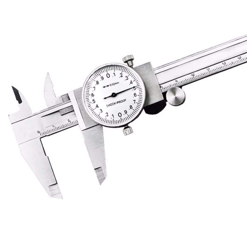 VHLL 1 Pc Stainless Steel Dial Calipers 0-150mm 6 Inch Shockproof Table Vernier Caliper High Precision Gauge Micrometer NEW