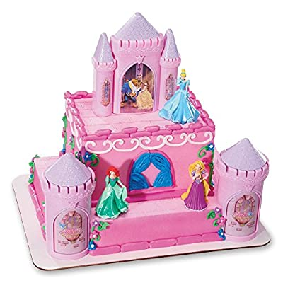 "Decopac Disney Princess Happily Ever After Signature DecoSet Cake Topper, 4.8"" L x 2.5"" W x 6"" H, Pink ..."