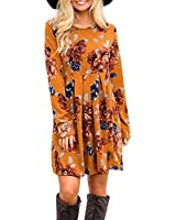 Women's Long Sleeve Floral Pockets Casual...