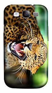 covers customizable leopard angry PC case/cover for Samsung Galaxy S3 I9300