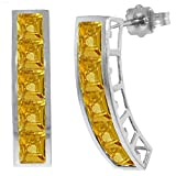 ALARRI 4.5 CTW 14K Solid White Gold Drifting Towards Love Citrine Earrings