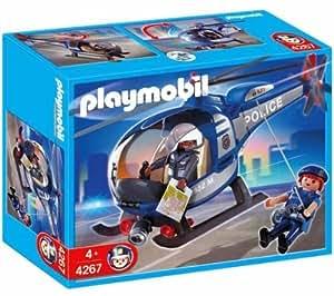 Playmobil Police Copter - kits de figuras de juguete para niños (Multicolor, De plástico)