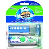 Scrubbing Bubbles Toilet Cleaning Gel with Glade Rainshower Scent - 1 Dispenser & 6 Gel Refills