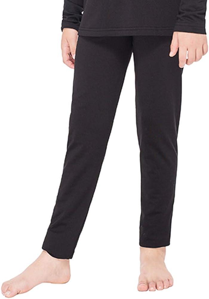 Subuteay Girls Thermal Bottoms Fleece Lined Leggings Long Underwear Pants