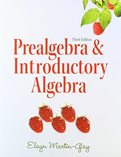 Prealgebra & Introductory Algebra with MathXL (24-month access) (3rd Edition)