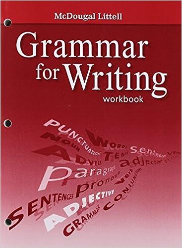 Amazon.com: McDougal Littell Literature: Grammar for Writing ...