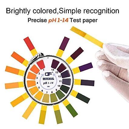 1 misura del pH gamma completa 0-14 1 Strisce di carta per test del pH