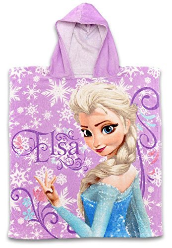Niña Disney Frozen Anna & Elsa Toalla Con capucha con capucha Poncho Talla Única 2 a