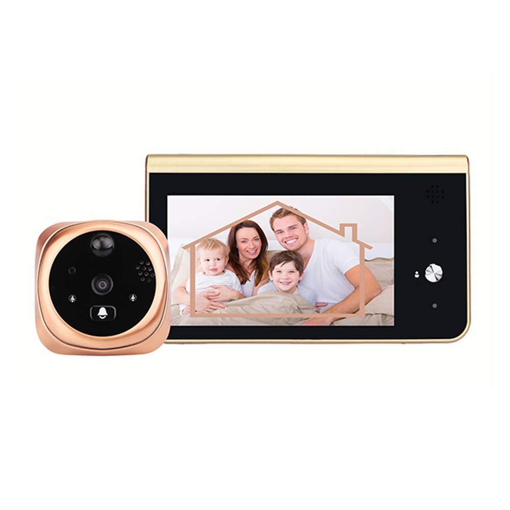 Elikliv Video Peephole Doorbell, 720P 4.3inch HD Screen WiFi Smart Doorphone Viewer Waterproof NightVision PIR Motion Detection APP Control For IOS Andriod