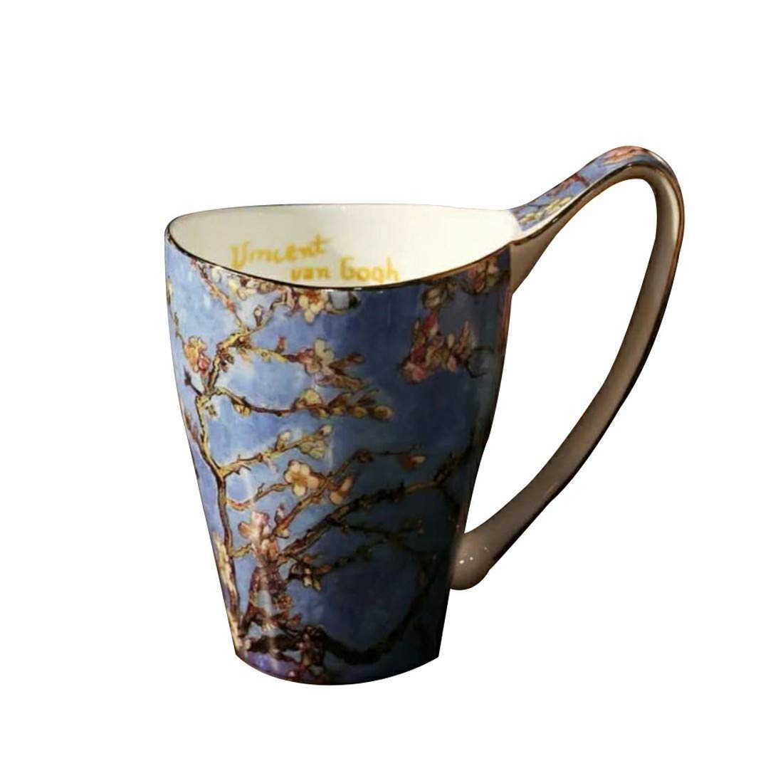 Black Friday Deals Cyber Monday Deals Sale-20 oz Famous Painting Masterpiece Artwork Van Gogh Art Ceramics Mugs, Large Capacity Funny Coffee Cups Fashion Breakfast Beer Milk Mug (Blue C)