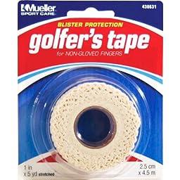 Mueller Golfer\'s Grip Tape, Lightweight, Conforming Elastic Protective Tape, 1\