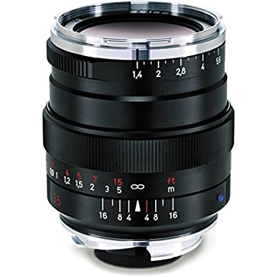 Zeiss 35mm 1.4 Distagon T* ZM Lens for Zeiss Ikon and Leica M Mount Rangefinder Cameras - Black from Zeiss