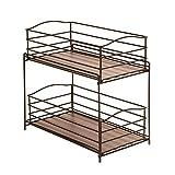 Seville Classics 2-Tier Sliding Basket Kitchen Cabinet Organizer, Bronze Review