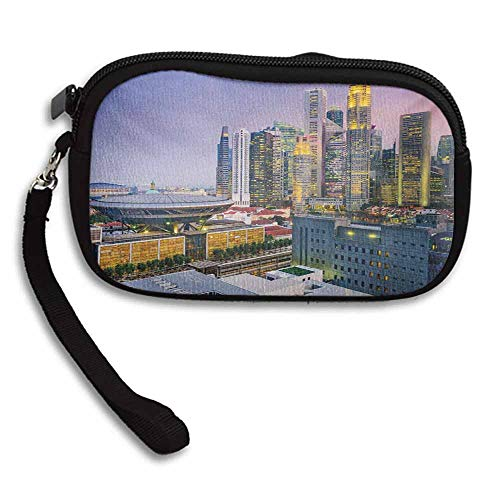 - Urban Wallet Coin Purse Skyline of Singapore at Evening Skyscrapers Stadium Active City Life Southeast Asia W 5.9