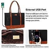Laptop Tote Bag for Women, USB Laptop Tote