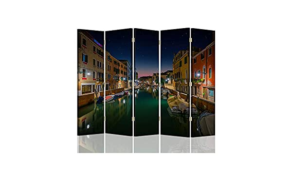Feeby Pared divisoria Venecia 5 Paneles Unilateral Agua Edificios ...