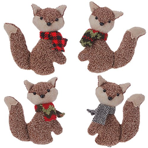 "5""  Fox Ornaments - Set of 4"