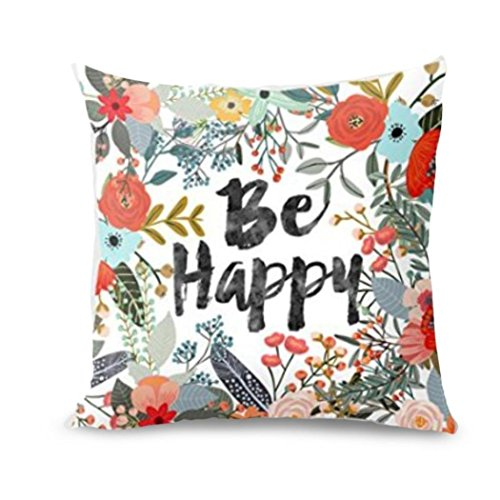 Gallity Halloween Pillow Cases Linen Sofa Pumpkin Ghosts Cushion Cover Throw Pillow Case Covers Decorative Cushion Cover For Sofa Home Decor (E)