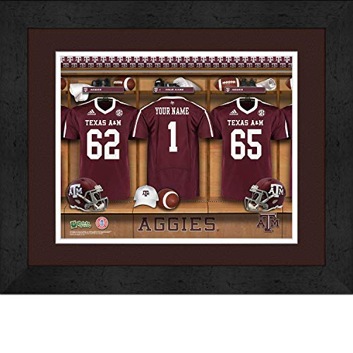 (Prints Charming College Locker Room College Texas A&M Framed Posters 16x12 Inches)