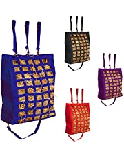 """Majestic Ally Slow Feed 2 Sides Open 28""""x22""""x10"""" Hay Bag for Horses, Adjustable Travel Feeder for Trailer, Stall and Portable Wear Feeding Sack with Strap Support, Simulates Grazing, Reduces Waste"""