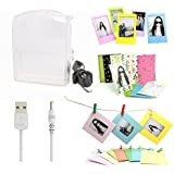 CAIUL 5 in 1 Fujifilm Instax Share SP-1 Smartphone Printer Accessories Bundle(Included: Transparent Instant Printer SP-1 Case/ USB Power Cable/ Wall Hang Frames/ 3 inch Film Frame/ Mini Film Stickers)