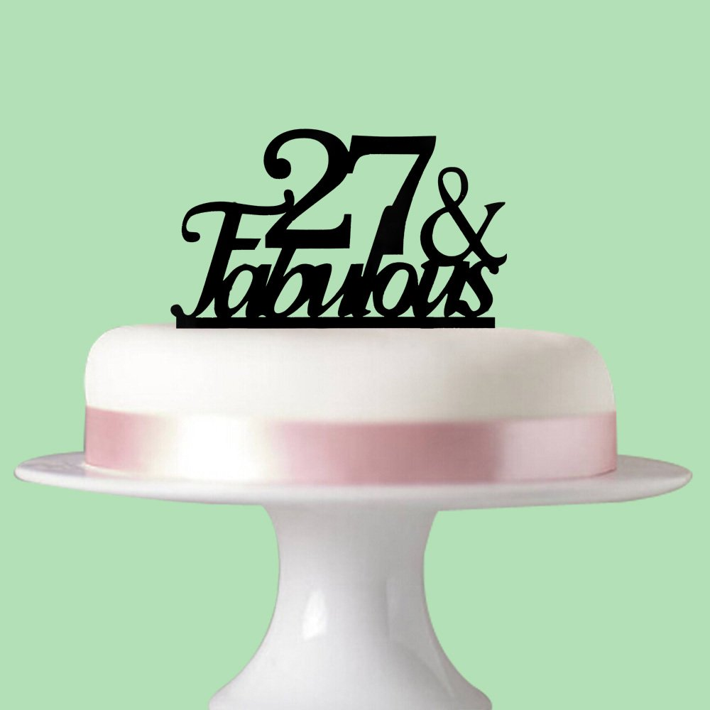 Amazon 27 Fabulous Cake Topper For 27th Birthday Party