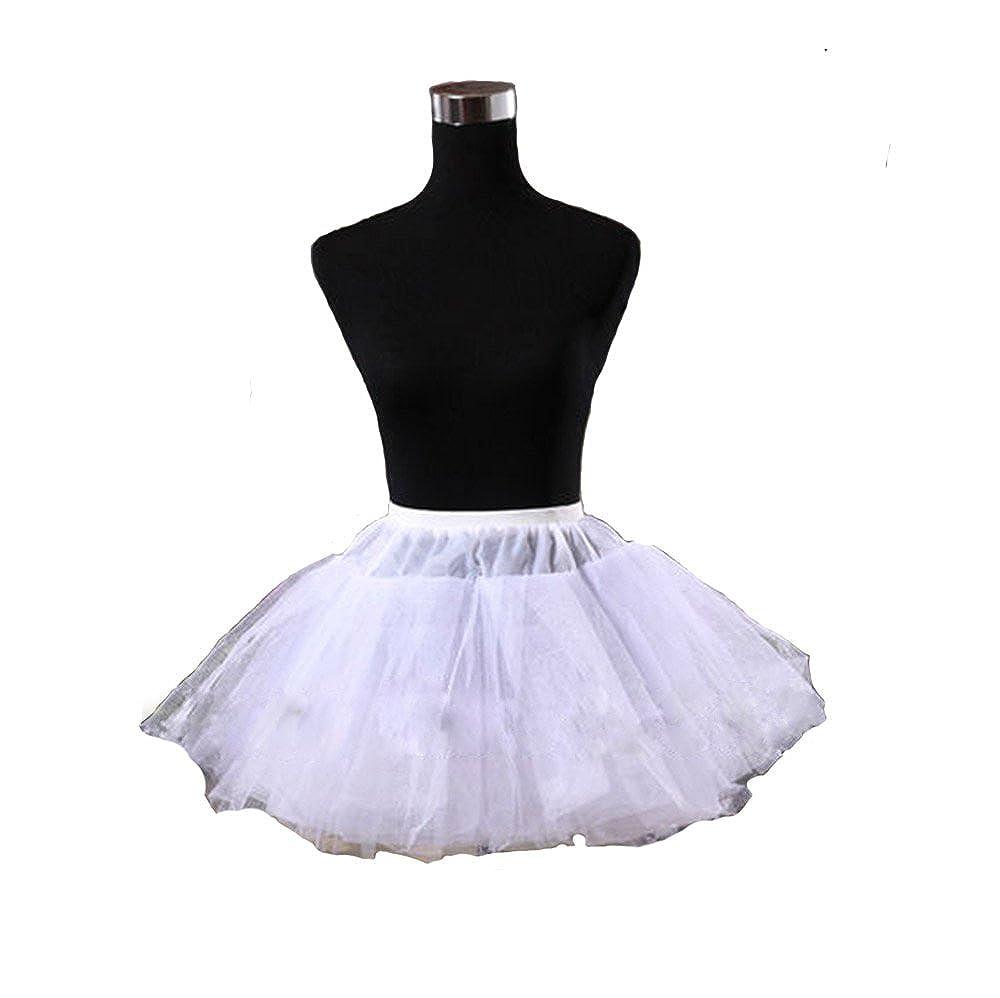 Angela Petticoat for Girls Womens Mini Short Tulle Crinoline Underskirt White)