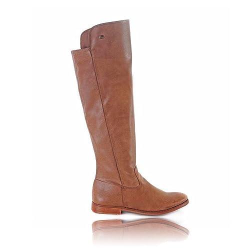0a580025f84 Bota Alta Mustang Dus Taupe 58251 Bota alta piel de Mujer Marrón. EU 37   Amazon.es  Zapatos y complementos