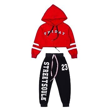 0eb910ab4 Moyuqi™ Kids Ballroom Jazz Hip Hop Dance wear Competition Costumes Shirt  Tops Pants for Girls