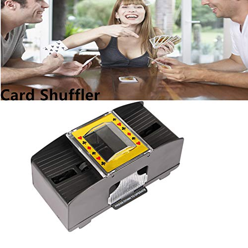 Amare Ampio Automatic Card Shuffler for Poker Games,with Card Shuffler Automatic Playing Canasta Card Holder Tray for Home & Party Use 1 Pack