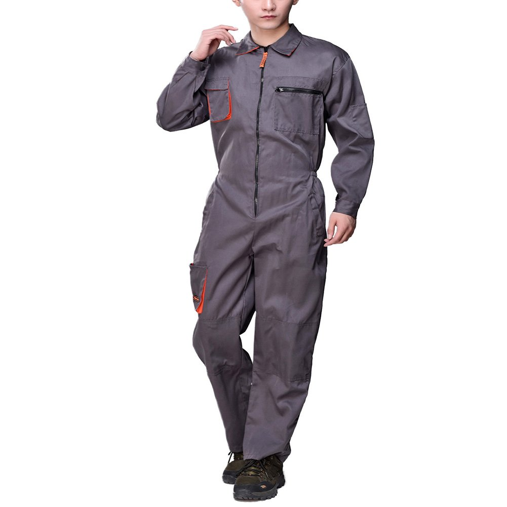 Aolamegs Men's Long Sleeve Coveralls for Welder Car Repair Uniforms US XXL