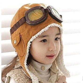 fff454d0011bd KIDS TODDLER INFANT CHILD KIDS PILOT AVIATOR COOL NOVELTY GIFT FUN FLEECE  SOFT WARM BEENIE AIR
