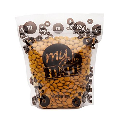 All Color M&M'S Bulk Candy Bag (Gold, 2 LB)