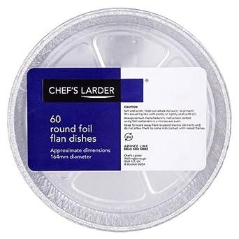 Chefs Larder Round Foil Flan Dishes 164mm 5 x 60s