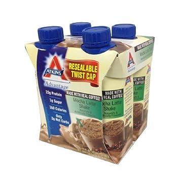 Atkins Advantage Easy to Drink Mocha Latte 4 ea Pack of 3