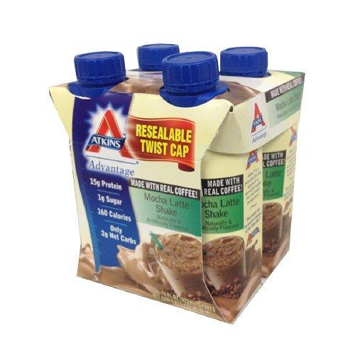 Atkins Advantage Easy to Drink Mocha Latte 4 ea (Pack of 2)