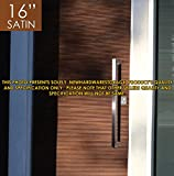 Pull Push 16 inches Handles for Entrance Entry Front Door, Interior and Exterior, Satin Finish, Storefront Door, Commercial Entry Gate and Office Door, Modern and Decent Design Rectangle Style