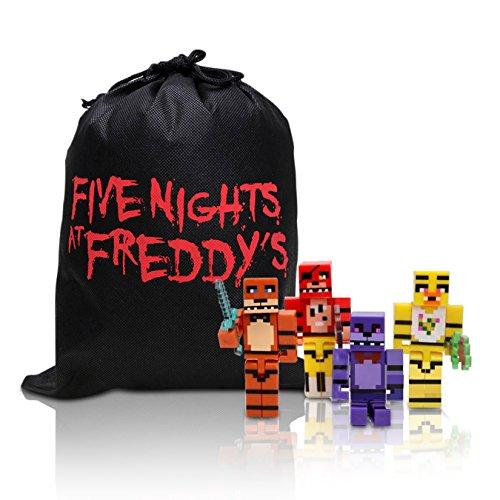 Action Figure Boxed Set (Five Nights At Freddy's Gift Bag & Boxed FNAF Mini Action Figure 8pcs/set)