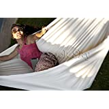 Hammock Sky® Brazilian Hammock - Two Person Double for Backyard, Porch, Outdoor or Indoor Use - Portable for Camping - Soft Woven Cotton Bed for Supreme Comfort (Natural)