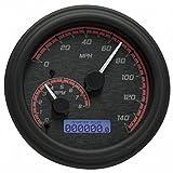 Dakota Digital MVX-2004-KR-C MVX Series Fatbob Analog/Digital Gauge System - Black/Red Chrome