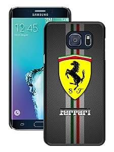 Popular Samsung Galaxy S6 Edge Plus Cover Case ,Ferrari logo Black Samsung Galaxy S6 Edge+ Case Hot Sale And Unique Designed Phone Case