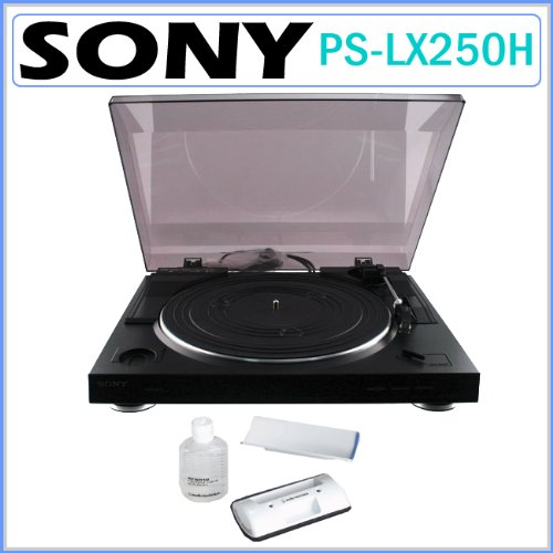Sony PS-LX250H Automatic Belt-Drive Turntable with Record Cl