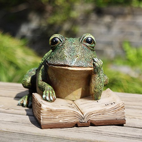 Ivy Home Schooling Garden Solar Resin Statuary (Frog Solar Light)