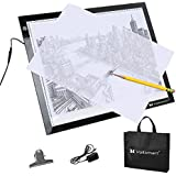 Voilamart A3 LED Tracing Board 3-Level 12V Dimmable Brightness, with Cable Paper Clip Carry Case, 7mm Thin Illumination Light Box Light Pad Panel, For Art Craft Drawing Stencil Sketching Animation
