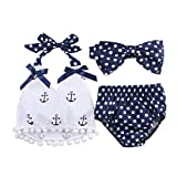 Victoriay Baby Girl's Bow Tie Three Sets Romper Jumpsuit Outfits Clothes