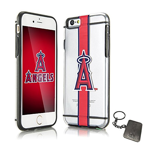Price comparison product image Official Licensed Apple iPhone 6/6S Fusion TPU Case Rugged Slim Hardshell Transparent Team Logo Cover (Luxmo® Exclusive) (Los Angeles Angels)
